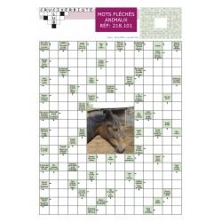 """mots fléchés """"animaux"""" grand format - pack de  10"""